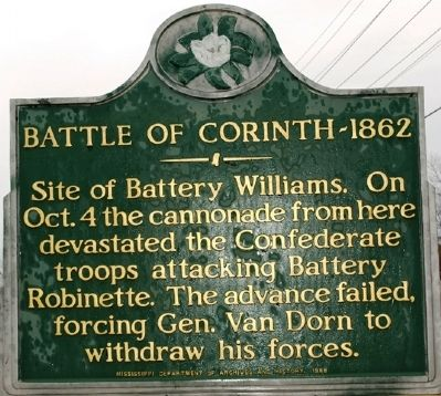 Batte of Corinth - 1862 Marker image. Click for full size.