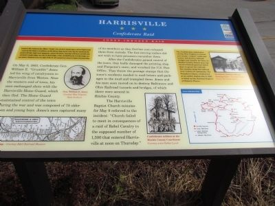 Harrisville Civil War Trail Marker Photo, Click for full size