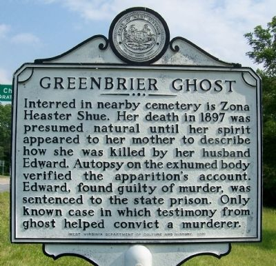 Greenbrier Ghost Marker Photo, Click for full size