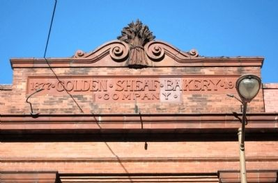 Golden Sheaf Bakery Sign and Sheaf Photo, Click for full size