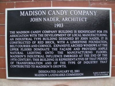 Madison Candy Company Marker image. Click for full size.