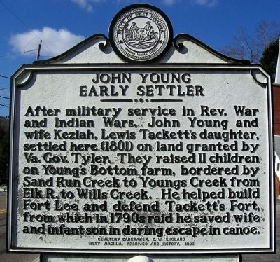 John Young Early Settler Marker Photo, Click for full size