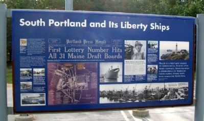 South Portland and Its Liberty Ships Marker image. Click for full size.