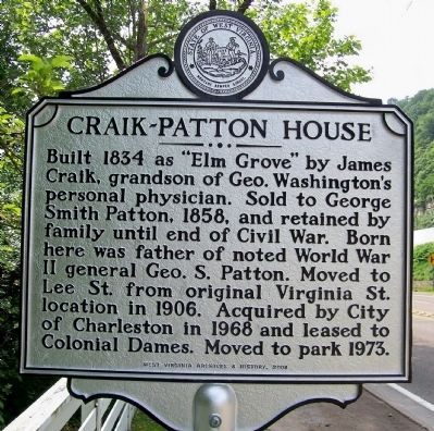 Craik-Patton House Marker image. Click for full size.
