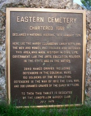 Eastern Cemetery Marker image. Click for full size.