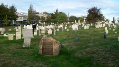 Eastern Cemetery and Marker image. Click for full size.
