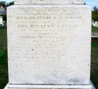 Rev William I. Reese Monument image. Click for full size.