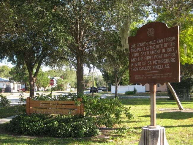 First Settlement and Post Office Marker image. Click for full size.
