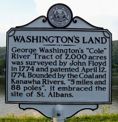 Washington's Land Marker image. Click for full size.