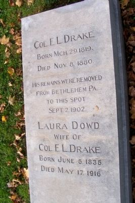 Edwin L. Drake Burial Site image. Click for full size.
