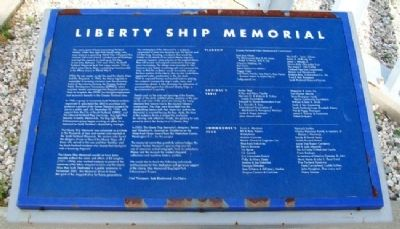 Liberty Ship Memorial Marker image. Click for full size.