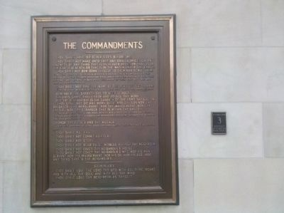 West Chester Borough Historic Site 3 - The 10 Commandments on the Courthouse Steps image. Click for full size.