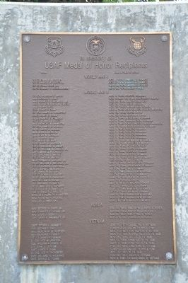 USAF Medal of Honor Recipients Marker image. Click for full size.