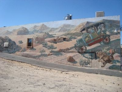 The National Trails Hwy/Route 66 Mural image. Click for full size.
