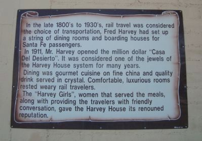 The Harvey House Marker image. Click for full size.