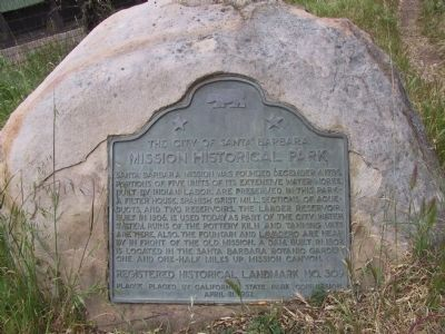 Mission Historical Park Marker image. Click for full size.