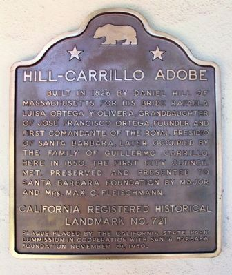 Hill-Carrillo Adobe Marker image. Click for full size.