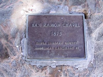 Chapel of San Ramon Marker image. Click for full size.