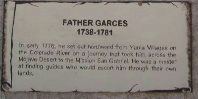 Father Garces Marker image. Click for full size.
