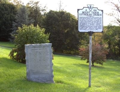 Two Markers at Mount Tabor Lutheran Church image. Click for full size.