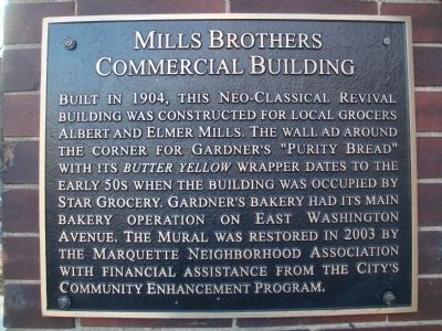 Mills Brothers Commercial Building Marker image. Click for full size.