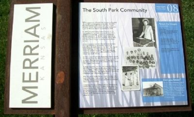 The South Park Community Marker image. Click for full size.