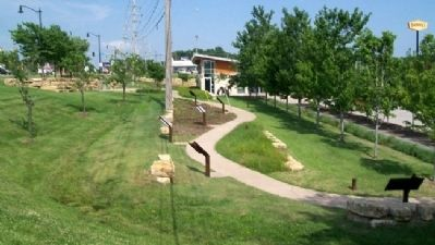 Merriam Historic Plaza Walking Path image. Click for full size.
