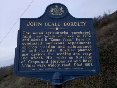 John Beale Bordley Marker Photo, Click for full size