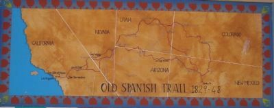 The Old Spanish Trail Marker - bottom panel 3 Photo, Click for full size