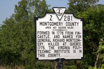 Montgomery County Face of Marker Photo, Click for full size