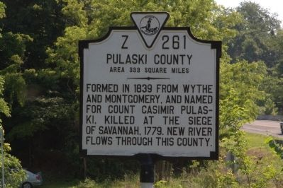 Pulaski County face of Marker Photo, Click for full size
