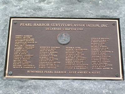 Pearl Harbor Survivors Association, Inc. Marker Photo, Click for full size
