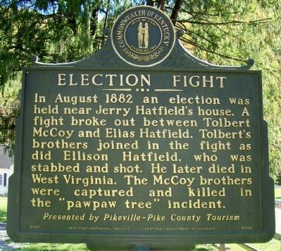 Election Fight Marker (reverse) Photo, Click for full size