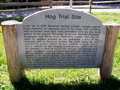 Hog Trial Site Marker Photo, Click for full size