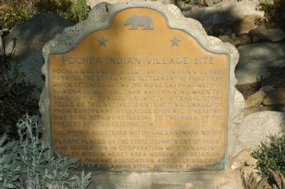 Pochea Indian Village Site Marker Photo, Click for full size