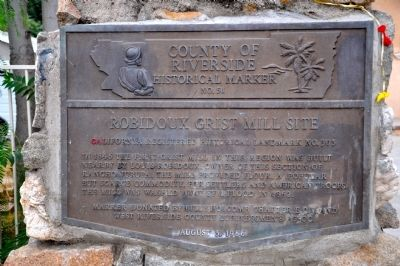 Robidoux Grist Mill Site Marker image. Click for full size.