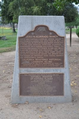 Jensen-Alvarado Ranch Marker image. Click for full size.