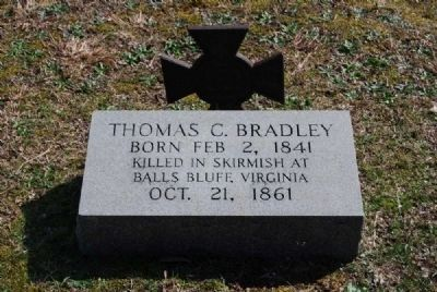 Thomas C. Bradley Tombstone<br>Cedar Springs A.R.P. Church Cemetery image. Click for full size.