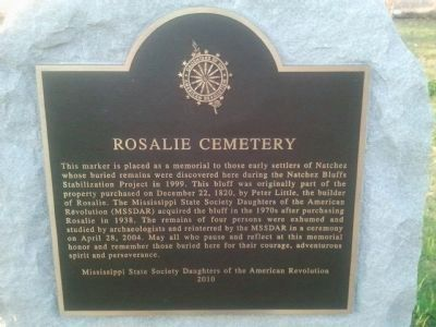 Rosalie Cemetery Marker image. Click for full size.