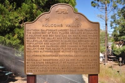 Holcomb Valley Marker Photo, Click for full size
