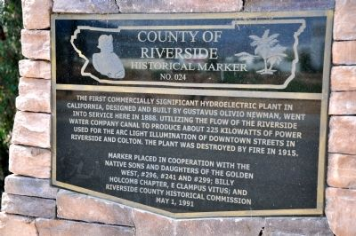 Highgrove Hydroelectric Plant Marker image. Click for full size.