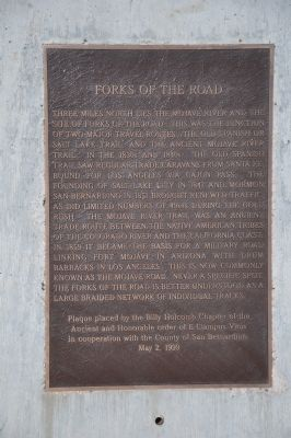 Forks of the Road Marker image. Click for full size.