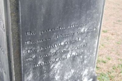 Maj. James Alston<br>Tombstone image. Click for full size.
