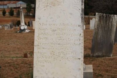 Catherine Hamilton Alston Tombstone image. Click for full size.