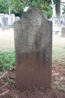 Isaac Beckwith Tombstone image. Click for full size.