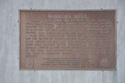 Warren's Well Marker image. Click for full size.