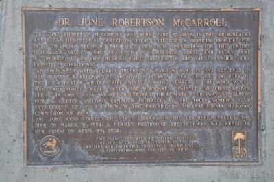 Dr. June Robertson McCarroll Marker image. Click for full size.