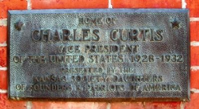 Home of Charles Curtis Marker image. Click for full size.