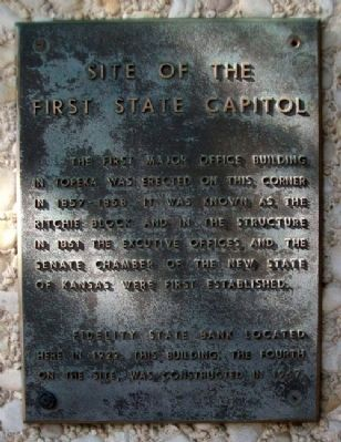 Site of the First State Capitol Marker image. Click for full size.