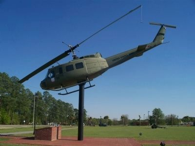 Veteran's Memorial Park Helicopter Display image. Click for full size.